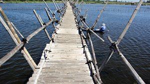 Bamboo bridge in Hoi An