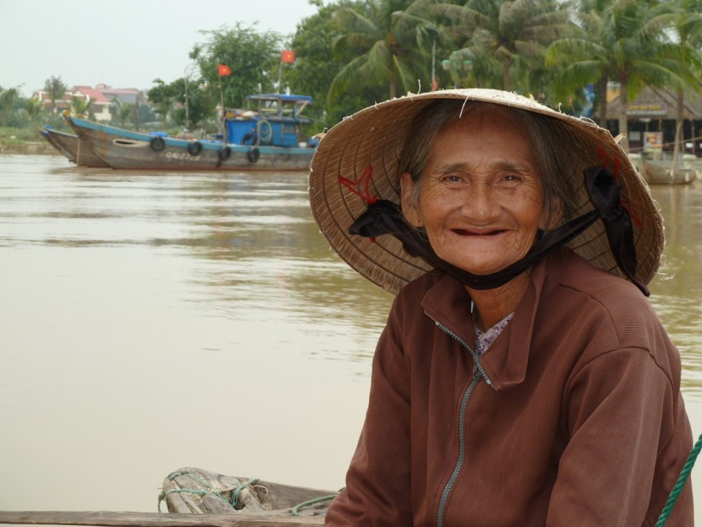 Smile of Hoi An old woman