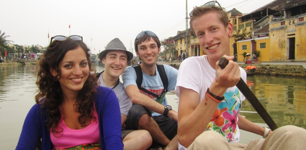 Smile of travelers in Hoi An