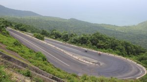 Riding over Hai Van Pass (Hoi An to Hue)