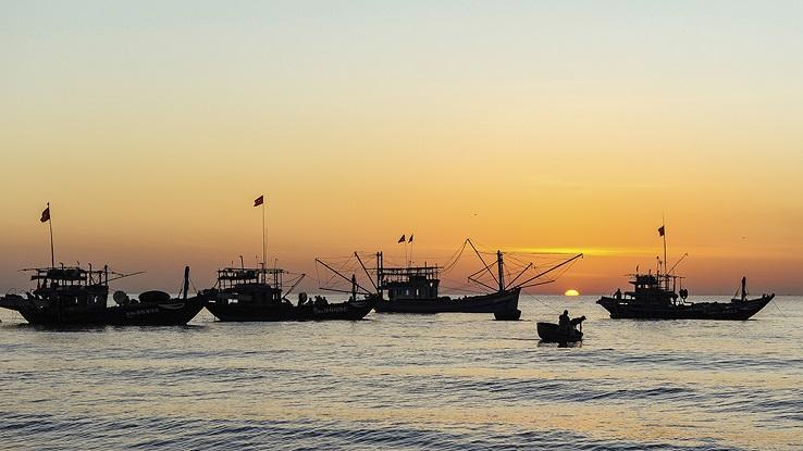 Binh Minh Beach, Thang Binh, Quang Nam, vietnam