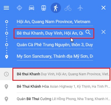 Add a stop called Be thui Khanh between Hoi An and My Son Sanctuary